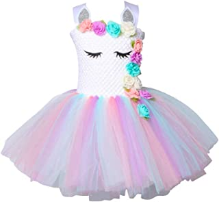 Unicorn Tutu Dress for Girls Kids Birthday Party Unicorn Costume Outfit for 2 Years Old