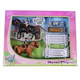 caballo con jinete de juguete