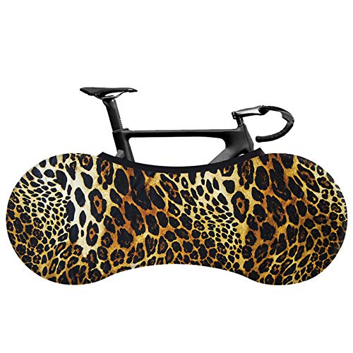 KHXJYC Bicycle Dust Cover Wheel Cover, Road Bicycle Tire Mountain Bike No Socks Dirt Storage Bag, Washable/Dust/Leopard Bicycle Storage Tire Cover,#13