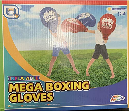 RMS Outdoor Fun Mega aufblasbare Boxhandschuhe (blau oder rot, zufällig ausgewählt)