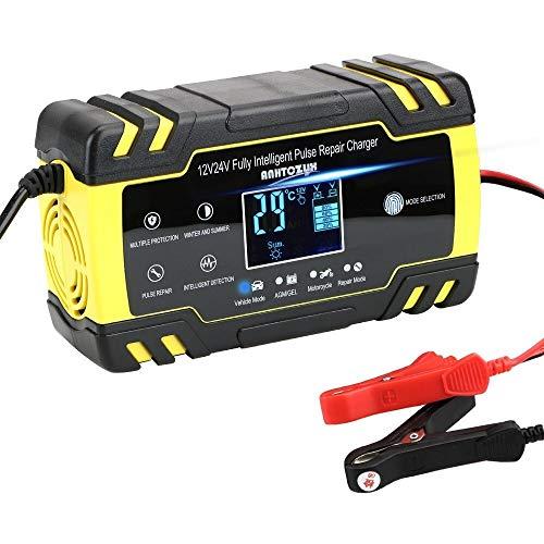 Arrancador De Coches Completa del cargador del coche de batería automático del pulso de reparación Display 12V-24V 8A digital Wet Dry-cargadores de batería Carga de la energía Arrancador De Baterias