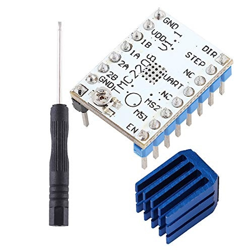 Boaby Stepper Motor Driver 1pc TMC2208 Stepper Motor Driver Module With Heat Sink Printer Part Replacement