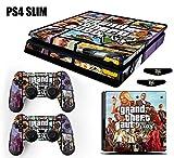 Skin PS4 Slim GTA 5 Grand Theft Auto V - Roxo