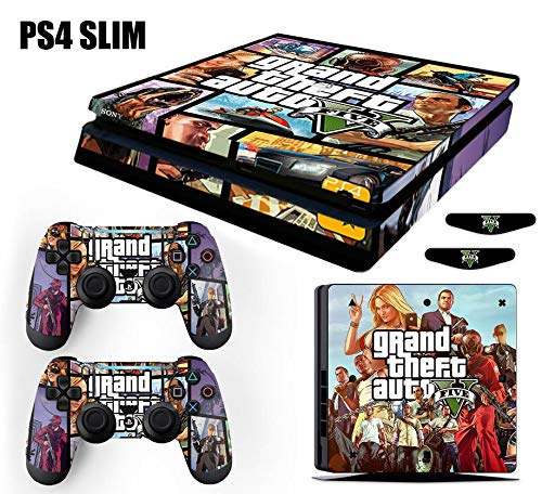 Skin PS4 Slim GTA 5 Grand Theft Auto V - Roxo