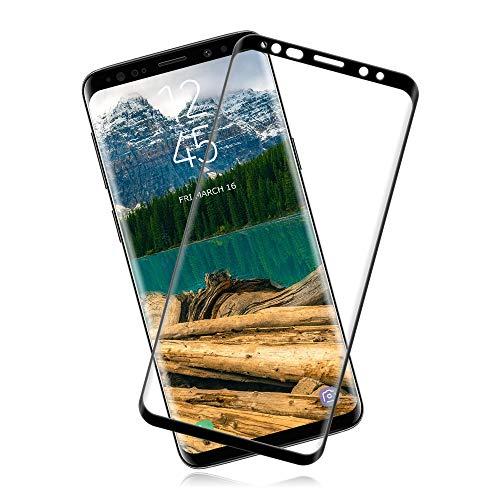 [2 Unidades] Cristal Templado Samsung Galaxy S8 [9H Dureza] [Sin Burbujas] [Alta Definición] [Anti-Huella/Arañazos] Película Protectora de Vidrio Templado Galaxy S8