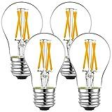 LiteHistory dimmable A15 led Bulb 4W equal 40 Watt e26 led bulb AC120V Vintage led edison bulb for Ceiling fan light bulbs,Appliance Bulb and Refrigerator Light Bulb Warm white 2700K 400lm clear 4Pack
