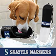 MLB PET WATER BOTTLE for DOGS & CATS: Licensed by the MLB! Whether you're going to the game, on a walk, traveling or as an indoor pet water fountains, make sure to keep your pet hydrated @ the click of a button with the Pet Smart water bowl dispenser...
