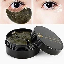 60pcs Collagen Eye Pads Eye Mask Black Pearl Eye Pads for Relieving Dark Keis Puffines Anti Wrinkle Moisturizing Against Dark Circles