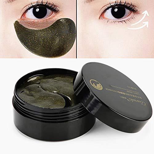 60pcs Augenpads Kollagen Augen Maske Schwarze Perlen Augen-Pads für die Entlastung der Dunklen Keis-puffines Antifalten-Befeuchtende Gegen Augenringe