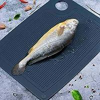 gaoyunqin vassoi di scongelamento vassoio di scongelamento/tagliere 2 in 1, piatto di scongelamento tagliere per uno scongelamento più rapido, cibo surgelato o tritare, gadget da cucina per la casa
