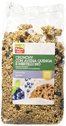 La Finestra Sul Cielo Crunchy con Avena Quinoa e Mirtilli Bio - 375 g