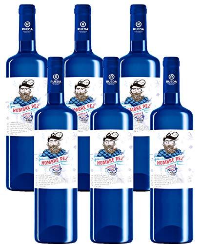 Hombre Pez Verdejo Vino Blanco D.O Rueda-6 Botellas de 750 ml - Total: 4500 ml