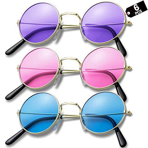 Retro Hippy Glasses - (Pack of 6) R…