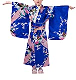 KRUIHAN Enfants Yukata Ancien Style Japonais - Fille Kimono Gamins Traditionnel...