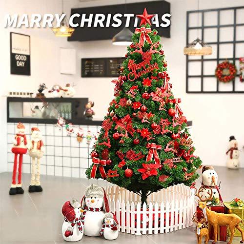 WLHER Künstlicher Weihnachtsbaum, Unechter Tannenbaum Inkl. Metall Christbaumständer, Perfekte Weihnachtsdekoration Für Familienfeiern, Büros, Geschäfte, Im Freien,3m high