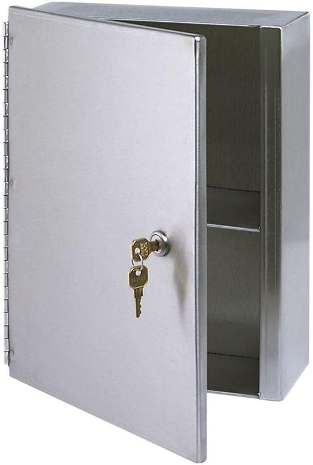 10.5 in. x 13 in. Surface-Mounted Medicine Cabinet in Stainless Steel