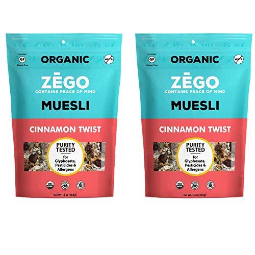 ZEGO Foods Organic Superfood Oatmeal & Muesli, Certified Gluten Free (Cinnamon Twist) 13oz
