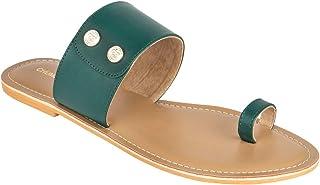Chumbak Buttoned Up Green Slider