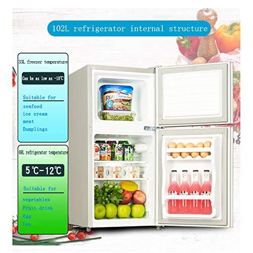 Refrigerador Compacto De Doble Puerta con Congelador Mini ...