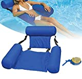 Abigalemee Water Chair Inflatable Swimming Pool Float Lounge,Foldable Comfortable Swimming Pools Seat Lounger Bed for Indoor Outdoor Swimming Pool