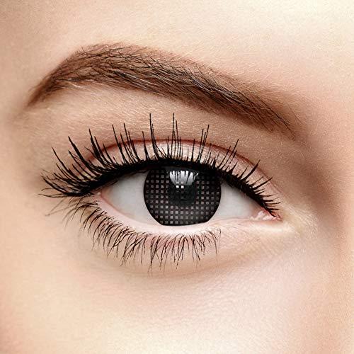 Chromaview Gitter Farbige Kontaktlinsen Ohne Stärke Schwarz (Tageslinsen)