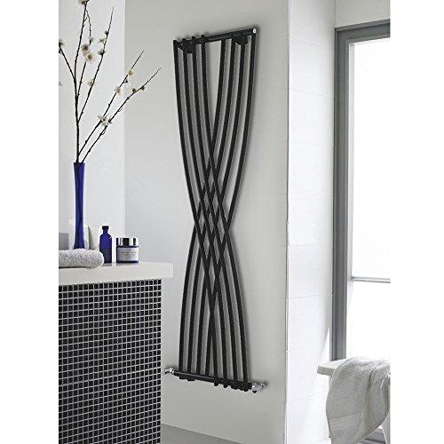 Hudson Reed - Radiateur Chauffage Central Design Vertical - Acier Noir - 178 x 45cm - Gamme XCITE