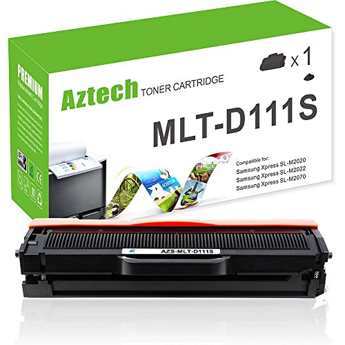 Aztech 1Pack 1,000 Pages Yield Black Toner Cartridge Replaces Samsung MLT-D111S MLTD111S MLT-D111S Used For Samsung Xpress SL-M2020 SL-M2020W SL-M2022 SL-M2022W SL-M2070 SL-M2070W SL-M2070F SL-M2070FW