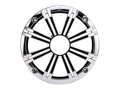 Kicker 41KM8GCR KM8GCR Marine Speaker Grille for KM8 8' Marine Coaxials - Chrome
