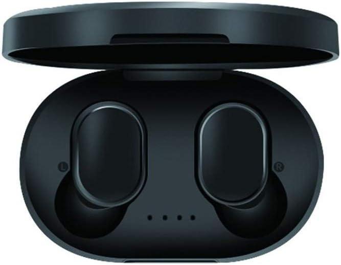 Walker Valentin Auricular IBHT Auricular de Bluetooth PK redmi Airdots inalámbrica Bluetooth 5.0 de Alta fidelidad Auriculares Gaming Airbuds Auricular for iPhone Samsung Xiaomi 1 (Color : Black)