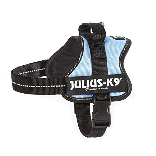 162BS-MM Julius K9 'speaking' dog Powerharness for labels, Size: 'Mini-Mini' blue sky - Chest: 15.75-20.47inch - weight: 8.82-15.43lbs - K-9