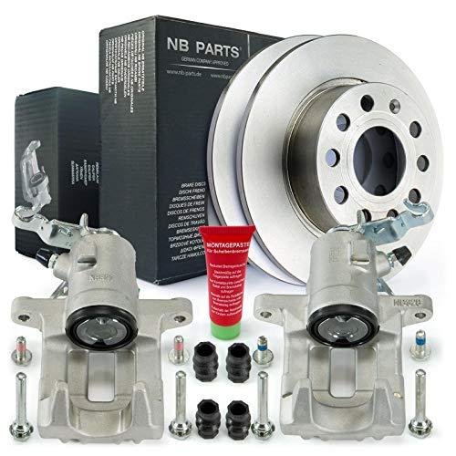 Bremsen/2x Bremssattel + Bremsscheiben hinten NB PARTS GERMANY 10045134