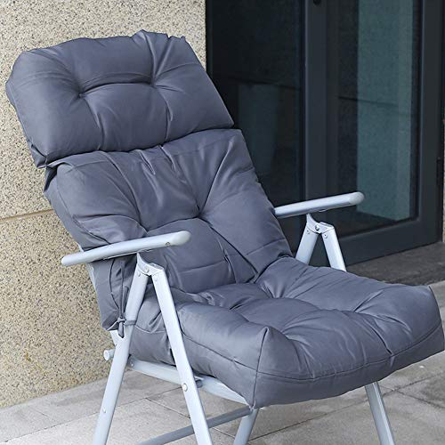 VIVOCFan Waterproof High Back Chair Cushion Relax Lounger Cushion Garden Patio Thick Seat Cushion Recliner Chair Pad Mat(ONLY Cushion) Gray 112x56cm(44x22inch)