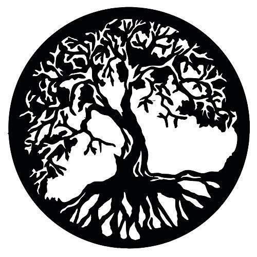 Baum des Lebens - Yggdrasil - Wandaufkleber Wandtattoo Tree of Life Sticker Aufkleber - erhältlich in vielen Farben (Schwarz, 40 x 40 cm)