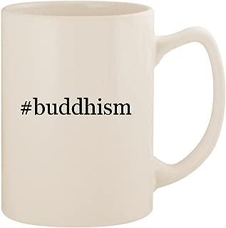 #buddhism - White Hashtag 14oz Ceramic Statesman Coffee Mug Cup