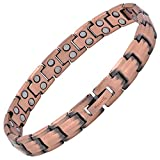 MagnetRX® Women's Pure Copper Magnetic Bracelet - Ultra Strength Magnetic Therapy Copper Bracelet for Arthritis Pain Relief & Carpal Tunnel - Adjustable Length with Sizing Tool