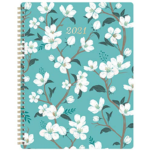 """2021 Planner - Weekly & Monthly Planner with Inner Pocket, 8""""X10"""",Jan to Dec, Flexible Cover, Monthly Tabs, 21 Extra Pages,Twin-Wire Binding"""