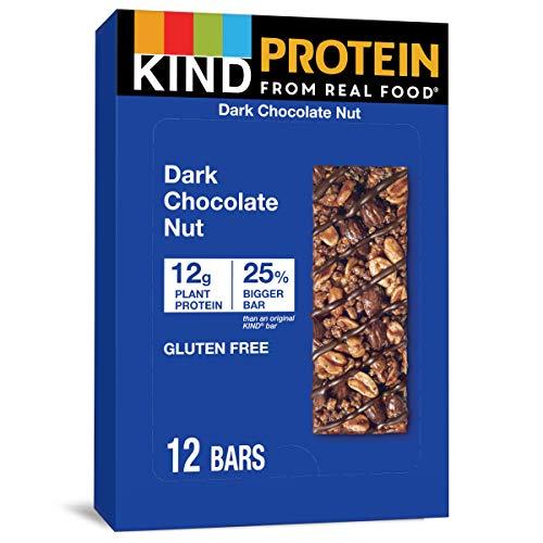 KIND Protein Bars, Double Dark Chocolate Nut, Gluten Free, 12g Protein,1.76oz, 12...