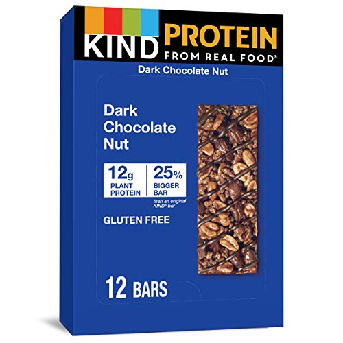 KIND Protein Bars, Double Dark Chocolate Nut, Gluten Free, 12g Protein,1.76oz, 12...