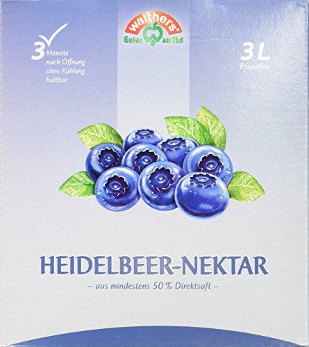 Walthers Heidelbeer Nektar, 1er Pack (1 x 3 l Saftbox)