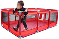 Fence-products Baby Child Playpen, Breathable Waterproof Net - Easy To Install, Strong And Durable Play Pen (Color : Red)