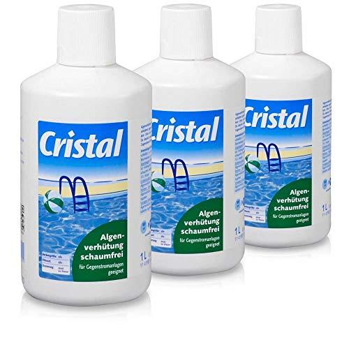 POOL Total Cristal Algenverhütung Schaumfrei 3 Liter/Gegen Algen frei von Chlor