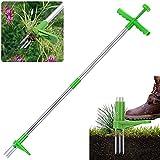 Stand-Up Weeder, Extractor de Malezas de jardín portátil, Herramienta para Eliminar raíces de césped de jardín de Mango Largo, Eliminador Manual de Ruderal