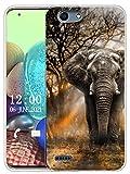 Sunrive Kompatibel mit Vodafone Smart E8 Hülle Silikon, Transparent Handyhülle Schutzhülle Etui Hülle (X Elefant)+Gratis Universal Eingabestift MEHRWEG