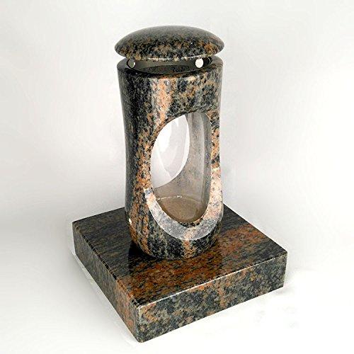 designgrab Design Small Grab Lampe avec socle en granit gneis Halmstad/barap/Hollandia, pierre tombale Set
