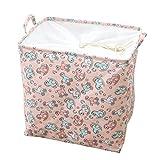 Tinmall 100L Schaukelpferd Aufbewahrungskorb Spielzeugkorb Wäschekorb mit Griffen Rund Leinen-Stoff Kinderspielsachen Wäsche Babysachen Kinderzimmer Bad Ordnungssystem Aufbewahrungsbox Kiste Box