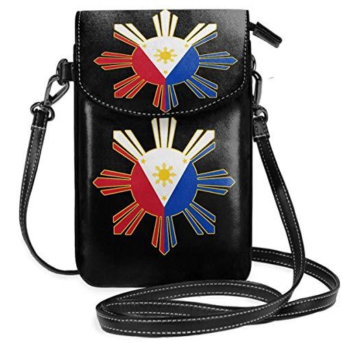 Ives Jean Monedero pequeño para teléfono celular con bandera filipina, bolso para teléfono inteligente, monedero con correa extraíble