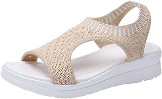 Padaleks Womens Wedges Sandals Open Toe Summer Flat Athletic Beach Outdoor Casual Hiking Walking Water Shoes
