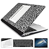 Dongke for MacBook Air 13 Inch Case 2020 2019 2018 Release A2337 M1/A2179/A1932, Soft Touch Hard Case Shell Cover for MacBook Air 13 Retina with Touch ID with Keyboard Cover - Composition Book