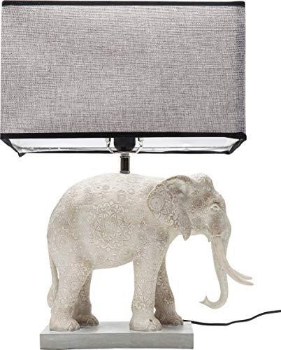 Kare Design Tischleuchte Elephant, lustige Tischleuchte mit Tier Motiv Elefant, Tischlampe in weiß miz rechteckigem Lampenschirm, (H/B/T) 55,5x38,2x38,3cm