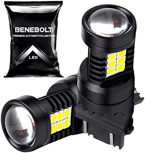 BENEBOLT 3157 LED Bulb White Also as 3156 3057 4114 4157 LED bulb Mega Brightness LED Reverse product image